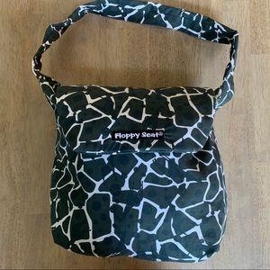 Floppy seat black and white giraffe pattern